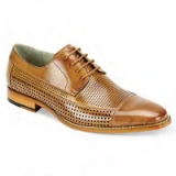 17. DIEGO TAN LACE UP CAP TOE SHOE Thumbnail