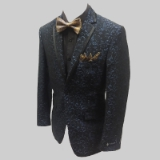 08. BLACK/BLUE SPARKLY PAISLEY PARTY JACKET Thumbnail