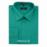 A15. EMERALD GREEN REGULAR FIT DRESS SHIRT Thumbnail