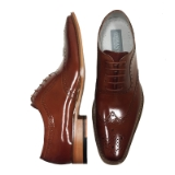 05. FERRARA COGNAC WING TIP LACE UP SHOE Thumbnail