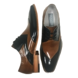 23. FLORENCE NAVY/TAN LACE UP SHOE Thumbnail