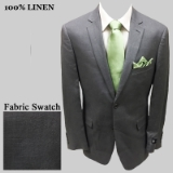 3. GREY SOLID 100% LINEN SPORTCOAT Thumbnail