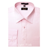 A14. LIGHT PINK REGULAR FIT DRESS SHIRT Thumbnail