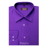 A07. PURPLE REGULAR FIT DRESS SHIRT Thumbnail