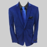23. ROYAL BLUE SOLID CORDUROY SPORTCOAT Thumbnail