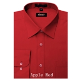A12. APPLE RED REGULAR FIT DRESS SHIRT Thumbnail