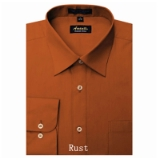 A10. RUST REGULAR FIT DRESS SHIRT Thumbnail