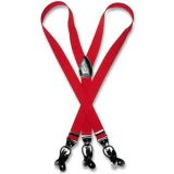 F12. RED LEATHER CONVERTIBLE SUSPENDERS Thumbnail