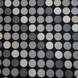 C056. BLACK/GREY/IVORY CIRCLES TIE&HANKY SET Thumbnail