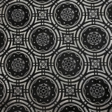 C050. BLACK/GREY GEOMETRIC CIRCLES TIE&HANKY Thumbnail