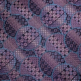 C088. PURPLE/BLUE GEOMETRIC CIRCLES TIE&HANKY Thumbnail