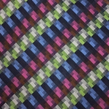 C130. GREEN/BLUE/PINK CHECK TIE&HANKY SET Thumbnail