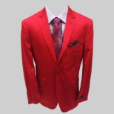 6. RED SOLID 100% COTTON SPORTCOAT Thumbnail