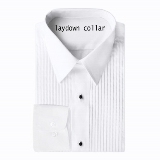 TUXEDO DRESS SHIRT - LAYDOWN COLLAR Thumbnail