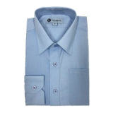 03. LIGHT BLUE SOLID BOYS DRESS SHIRT Thumbnail