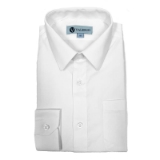 01. WHITE SOLID BOYS DRESS SHIRT Thumbnail